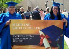 Zeke Peynetsa and Sarah Jimenez are graduates of Eastern Illinois University and the Medicine Shield College Program